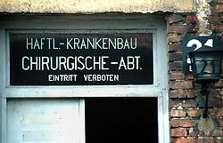 POLAND AUSCHWITZ AUG96 - The surgical department at Auschwitz camp I, where Nazis carried out medical experminent on live human samples.<br /> <br /> jre/Photo by Jiri Rezac<br /> <br /> © Jiri Rezac 1996<br /> <br /> Tel:   +44 (0) 7050 110 417<br /> Email: info@jirirezac.com<br /> Web:   www.jirirezac.com