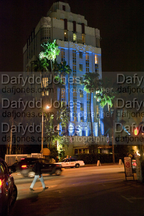 SUNSET TOWER HOTEL. West  Sunset  Boulevard. Los Angeles. 21 February 2009 *** Local Caption *** -DO NOT ARCHIVE -Copyright Photograph by Dafydd Jones. 248 Clapham Rd. London SW9 0PZ. Tel 0207 820 0771. www.dafjones.com<br /> SUNSET TOWER HOTEL. West  Sunset  Boulevard. Los Angeles. 21 February 2009