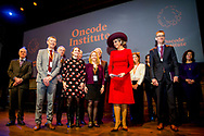 AMSTERDAM - Queen Maxima arrives at the Royal Tropical Institute where she lives with the launch of the Oncode Institute, an independent virtual institute where cancer researchers in the Netherlands unite copyright robin utrecht
