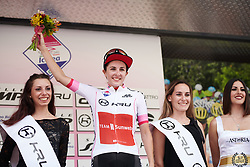 Juliette Labous (FRA) is the best young rider after Stage 2 of 2019 Giro Rosa Iccrea, an 78.3 km road race starting and finishing in Viù, Italy on July 6, 2019. Photo by Sean Robinson/velofocus.com