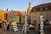 Brühlsche Terrasse, Dresden, Sachsen, Deutschland.|.Dresden, Germany, Bruehlsche Terrasse