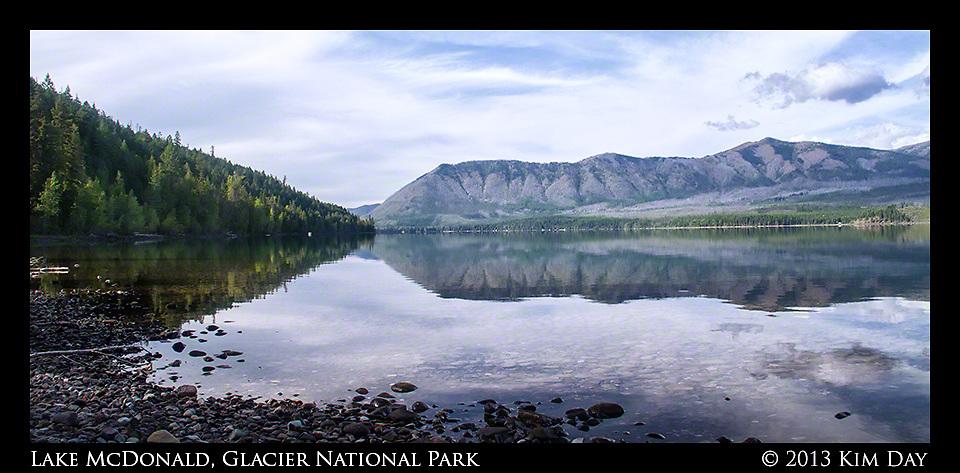 Mountain Reflections<br /> Lake McDonald - Glacier National Park - MT<br /> September 2013