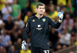Michael McGovern of Norwich City - Mandatory by-line: Robbie Stephenson/JMP - 16/08/2016 - FOOTBALL - Carrow Road - Norwich, England - Norwich City v Bristol City - Sky Bet Championship