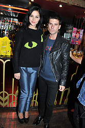 LEIGH LEZARK and GEORDON NICOL at the JW Anderson Top Shop Party held at Madame Jojo's, 8-10 Brewer Street, London W1 on 17th September 2012.