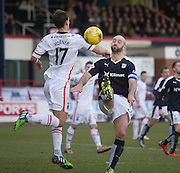 Dundee&rsquo;s Gary Harkins and Inverness&rsquo; Lewis Horner - Dundee v Inverness Caledonian Thistle - Ladbrokes Scottish Premiership at Dens Park<br /> <br />  - &copy; David Young - www.davidyoungphoto.co.uk - email: davidyoungphoto@gmail.com