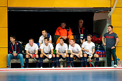 LEIZPIG - WC HOCKEY INDOOR 2015<br /> 05 RUS v SUI (Pool B)<br /> Foto: Russian bench.<br /> FFU PRESS AGENCY COPYRIGHT FRANK UIJLENBROEK