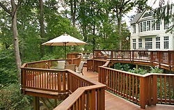 House rear exterior Deck patio Verandah Porch