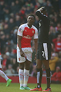 Arsenal striker, Danny Welbeck (23) after missing a chance during the The FA Cup Quarter Final match between Arsenal and Watford at the Emirates Stadium, London, England on 13 March 2016. Photo by Matthew Redman.