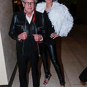 NLD/Amsterdam/20130309 - Modeshow Mart Visser zomer 2013, Monique des Bouvrie en partner Jan