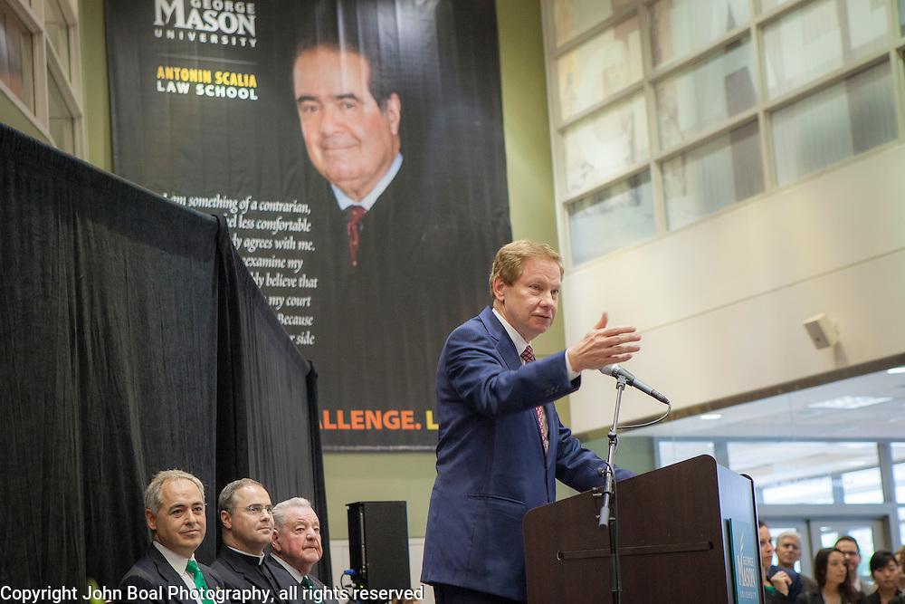 Former Representative, Tom Davis, during the Antonin Scalia Law School Dedication, at the Antonin Scalia School of Law, Arlington, VA, Thursday, October 6,, 2016.