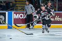 KELOWNA, CANADA - DECEMBER 2: Tyson Baillie #24 of Kelowna Rockets skates against the Kootenay Ice on December 2, 2015 at Prospera Place in Kelowna, British Columbia, Canada.  (Photo by Marissa Baecker/Shoot the Breeze)  *** Local Caption *** Tyson Baillie;