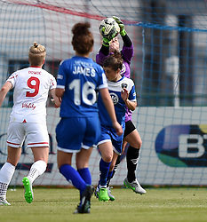 Mary Earps of Bristol Academy Women saves the ball - Mandatory by-line: Paul Knight/JMP - Mobile: 07966 386802 - 13/09/2015 -  FOOTBALL - Stoke Gifford Stadium - Bristol, England -  Bristol Academy Women v Liverpool Ladies FC - FA WSL Continental Tyres Cup