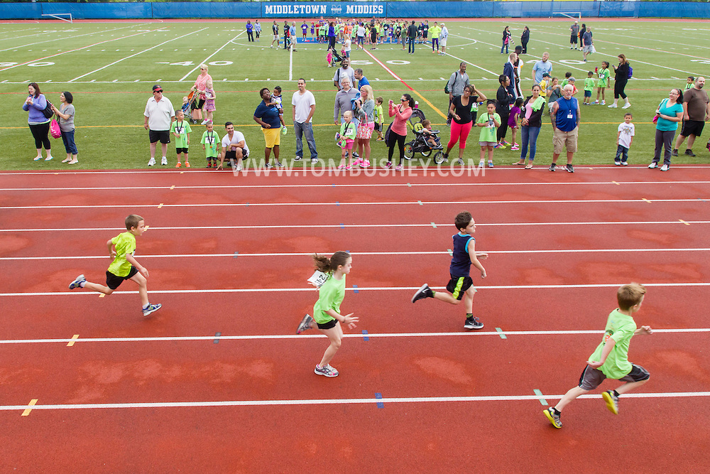 Middletown, New York - People enjoy activities at the Classic 10K race weekend at the Faller Field Complex at Middletown High School on  June 6, 2015.