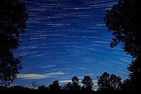 Star Trails Looking South. Composite of 250 images taken with a Nikon D850 camera and 19 mm f/4 PC-E lens (ISO 800, 19 mm, f/4, 8 sec). Raw images processed with Capture One Pro and the composite generated with Photoshop CC (Statistics, Maximum). [0751-1000]