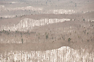 The winter landscape of the Keweenaw Peninsula in Michigans Upper Peninsula as seen from atop Mount Bohemia.