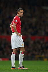 22.11.2011, Old Trafford, Manchester, ENG, UEFA CL, Gruppe C, Manchester United (ENG) vs Benfica Lissabon (POR), im Bild Manchester United's Rio Ferdinand looks dejected after his mistake gifted SL Benfica an equalising goal to level 2-2 during the UEFA Champions League Group C match at Old Trafford, London, United Kingdom on 22/11/2011. EXPA Pictures © 2011, PhotoCredit: EXPA/ Sportida/ David Rawcliff..***** ATTENTION - OUT OF ENG, GBR, UK *****