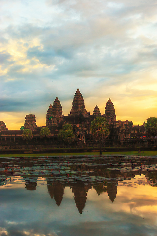 Angkor Wat is the largest religious structure in the world. Built as a funerary temple for Khmer king Suryavarman II (1113-1150), it honours the Hindu God Vishnu. Today it is a UNESCO world heritage site and an important tourist destination and economic asset for Cambodia.