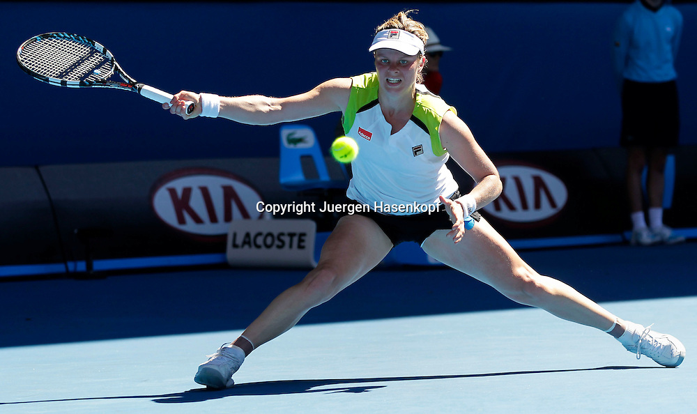 Australian Open 2012, Melbourne Park,ITF Grand Slam Tennis Tournament, Kim Clijster (BEL),.,Aktion,Einzelbild,Ganzkoerper,Querformat,