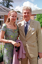 MR & MRS STEVEN LUSSIER, she is the daughter of Anthony Oppenheimer of De Beers, at a luncheon in London on 29th July 2000.OGM 25