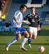 Kilmarnock's Manuel Pascali and Dundee's Jake Hyde - Dundee v Kilmarnock, William Hill Scottish FA Cup 4th Round,..- © David Young - .5 Foundry Place - .Monifieth - .DD5 4BB - .Telephone 07765 252616 - .email; davidyoungphoto@gmail.com - .web; www.davidyoungphoto.co.uk.