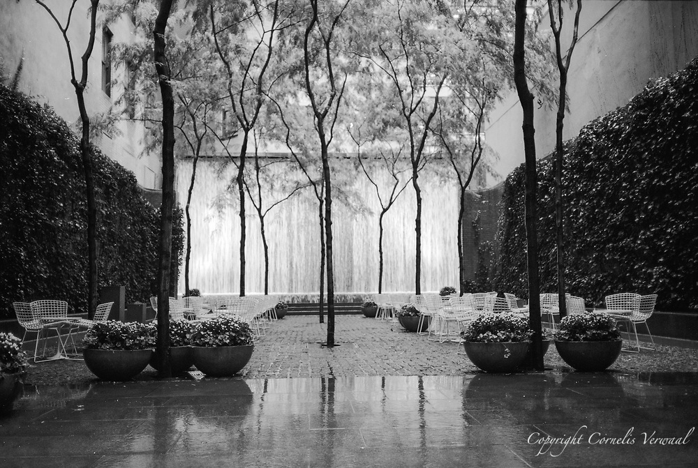The fountain in Samuel Paley Park, on East 53rd Street, between Fifth and Madison Avenues. New York