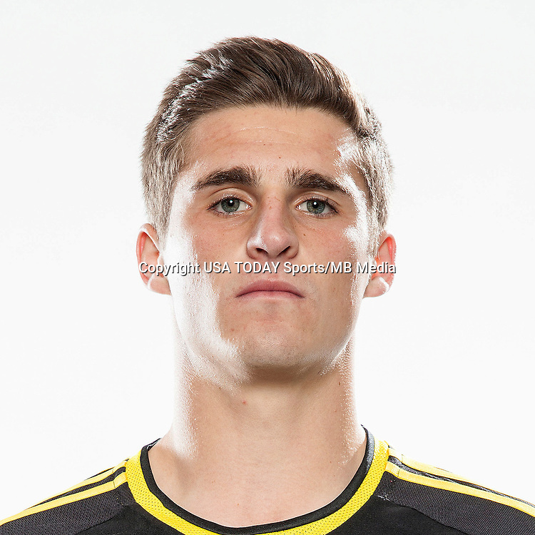 Feb 25, 2016; USA; Columbus Crew player Marshall Hollingsworth poses for a photo. Mandatory Credit: USA TODAY Sports