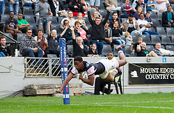 Durban. 250818. Aphelele Fassi of the Sharks during the Currie Cup match between the Sharks and the Vodacom Bulls at Kings Park stadium, Durban South Africa. Picture Leon Lestrade. African News Agency. ( ANA ).