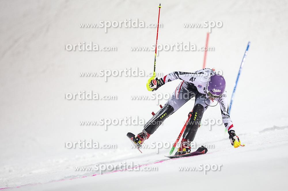 14.01.2014, Hermann Maier Weltcupstrecke, Flachau, AUT, FIS Weltcup Ski Alpin, Slalom, Damen, 2. Durchgang, im Bild Michaela Kirchgasser (AUT) // Michaela Kirchgasser of Austria  in action during 2nd run of the ladies Slalom of the FIS Ski Alpine World Cup at the Hermann Maier World Cup course in Flachau, Austria on 2014/01/14. EXPA Pictures © 2013, PhotoCredit: EXPA/ Johann Groder