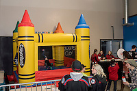 KELOWNA, CANADA - FEBRUARY 13: Kids enjoy the family day bouncy castle on February 13, 2017 at Prospera Place in Kelowna, British Columbia, Canada.  (Photo by Marissa Baecker/Shoot the Breeze)  *** Local Caption ***