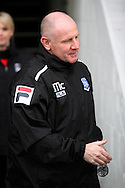Tranmere Rovers Caretaker Manager John McMahon prior to kick off.  Skybet football league 1match, Tranmere Rovers v Coventry city at Prenton Park in Birkenhead, England on Saturday 22nd Feb 2014.<br /> pic by Chris Stading, Andrew Orchard sports photography.