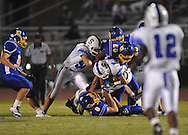 Oxford High's Juan Edwards (20) and Oxford High's Franklin Tatum (8) vs. Senatobia in high school football in Oxford, Miss. on Friday, September 9, 2011. Oxford won 40-20.