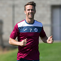 St Johnstone Training...<br /> Chris Millar pictured back in training after injuring himself in the game against Hearts<br /> Picture by Graeme Hart.<br /> Copyright Perthshire Picture Agency<br /> Tel: 01738 623350  Mobile: 07990 594431