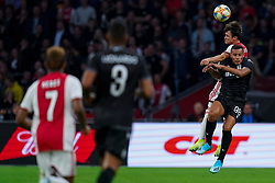 13-08-2019 NED: UEFA Champions League AFC Ajax - Paok Saloniki, Amsterdam<br />  Ajax won 3-2 and they will meet APOEL in the battle for a group stage spot / Nicolás Tagliafico #31 of Ajax, Leo Jaba #98 of PAOK