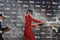Dario Franchitti, Will Power, Tony Kanaan, Honda Grand Prix of St. Petersburg, Streets of St. Petersburg, St. Petersburg, FL USA 3/27/2011