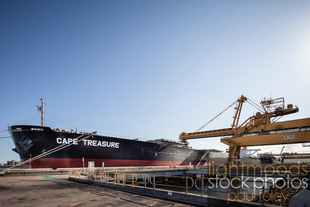Loading Coal Ship at Newcastle, NSW, Australia