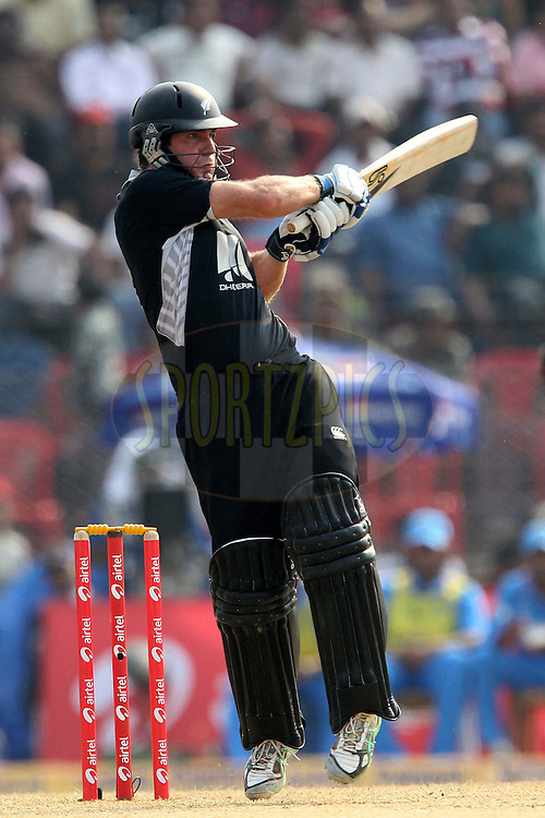 Jamie How during the 1st ODI (One Day International ) between India and New Zealand held at the Nehru Cricket Stadium in Guwahati, Assam, India on the 28th  November 2010..Photo by Ron Gaunt/BCCI/SPORTZPICS
