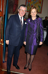 MR & MRS GEORGE MAGAN at a party to celebrate the anniversary of the launch of Talking Books held at The Arts Club, 40 Dover Street, London W1 on 8th November 2005.<br />