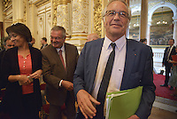 LYON, FRANCE - JUNE 16: Minister of Labor Francois Rebsamen attends the reunion fo Pact of responsibility and solidarity on June 16, 2014 in Lyon, France. (Photo by Bruno Vigneron/Getty Images)