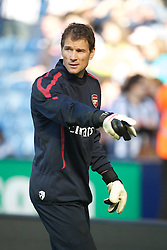 WEST BROMWICH, ENGLAND - Saturday, March 19, 2011: 41-year-old goalkeeper Jens Lehmann returns to Arsenal during the Premiership match against West Bromwich Albion at the Hawthorns. (Photo by David Rawcliffe/Propaganda)