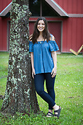 High school senior portrait of Alexandra Randazzo in Abita Springs; photo ©2018, George H. Long