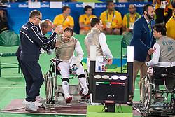 TOKATLIAN Damien, FRA, Fencing, Escrime, Foil, Medal Match, Bronze à Rio 2016 Paralympic Games, Brazil