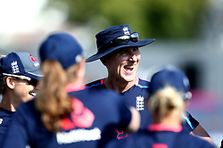 England Women head coach Mark Robinson gives a team talk to his players - Mandatory by-line: Robbie Stephenson/JMP - 09/07/2017 - CRICKET - Bristol County Ground - Bristol, United Kingdom - England v Australia - ICC Women's World Cup match 19
