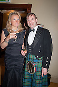 FIONA CAMPBELL FRASER; WILL MAITLAND-BIDDULPH, The Royal Caledonian Ball 2013. The Great Room, Grosvenor House. Park lane. London. 3 May 2013.