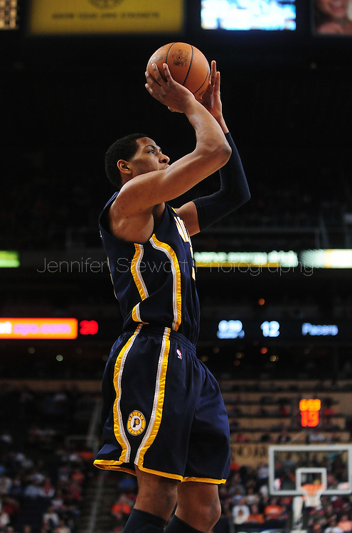Mar. 6 2010; Phoenix, AZ, USA;  Indiana Pacers forward Danny Granger (33) puts up a shot in the first half at the US Airways Center.  Mandatory Credit: Jennifer Stewart-US PRESSWIRE.