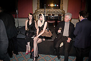 SATANIC SLUTS; KATE LOMOX; HAYLEY THOMPSON;  GORDON MILLINGS The Literary Review Bad sex in Fiction award 2008. The In and Out Club. 4 St. James Square. London SW1. 25 November 2008. *** Local Caption *** -DO NOT ARCHIVE -Copyright Photograph by Dafydd Jones. 248 Clapham Rd. London SW9 0PZ. Tel 0207 820 0771. www.dafjones.com