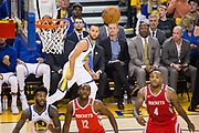 Golden State Warriors guard Stephen Curry (30) watches his missed three pointer against the Houston Rockets during Game 6 of the Western Conference Finals at Oracle Arena in Oakland, Calif., on May 26, 2018. (Stan Olszewski/Special to S.F. Examiner)