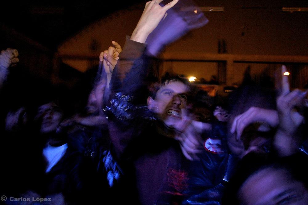 MASACRE.GRUPO DE DEATH METAL  DE COLOMBIA QUE TOCA EN EL PERU DESPUES DE 12 AN?OS.DURANTE SU CONCIERTO EN EL SINDICATO DE TRABAJADORES DE EL COMERCIO