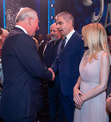 Embargoed to 0001 Tuesday November 13 The Prince of Wales meeting Rowan Atkinson after the We Are Most Amused and Amazed performance at the London Palladium.