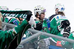 Team HDD Tilia Olimpija celebrate during ice-hockey match between HDD Tilia Olimpija and EC Rekord-Fenster VSV in 31st Round of EBEL league, on December 28, 2010 at Hala Tivoli, Ljubljana, Slovenia. (Photo By Matic Klansek Velej / Sportida.com)