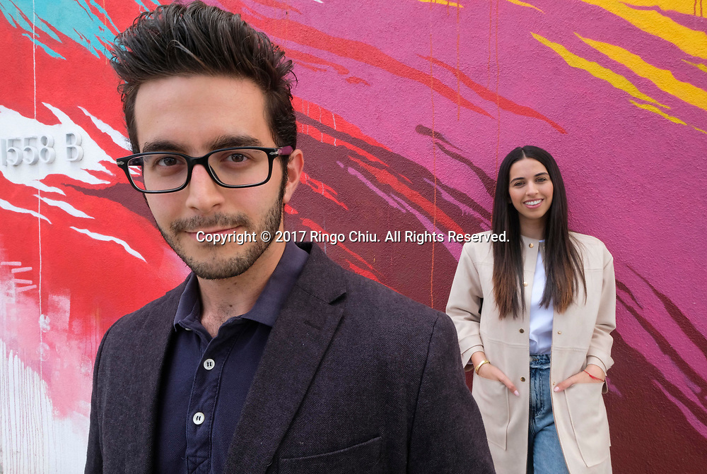 Sophia Parsa and Shaq Zabihian of Toot, an educational app.(Photo by Ringo Chiu)<br /> <br /> Usage Notes: This content is intended for editorial use only. For other uses, additional clearances may be required.